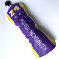 Golf Fairway Wood Head Cover Headcover - #24 Club Head Cover MAMBA MENTALITY NEW