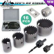 16pc HSS Hole Saw Drill Bit Kit Wood Plastic Metal Hole Cutter Tools 19mm -127mm