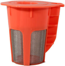 Keurig 2.0 Refillable K-Carafe Reusable Coffee Filter Replacement Orange Pack