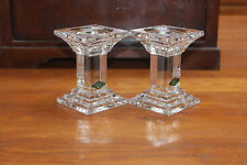 SHANNON 24% LEAD CRYSTAL DESIGNS OF IRELAND PILLAR /TAPER CANDLE HOLDERS NEW