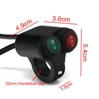Interrupteur pour guidon Moto Etanche 2 Boutons pour guidon 22mm