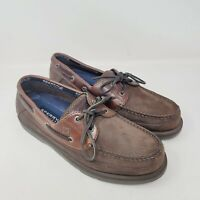Sperry Top Sider Mens  Boat Shoes Brown Leather Lace Up Casual 0777503 Size 10 M