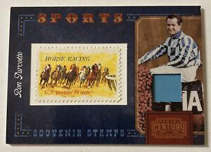 Ron Turcotte 2010 Panini Century Horse Racing Jockey Souvenir Stamps 152/250