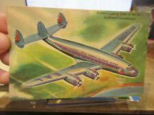 New ListingOther Old Postcard Airplane Plane Aircraft Eastern Air Lockheed Constellation 62