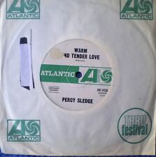"PERCY SLEDGE-WARM AND TENDER LOVE/SUGAR PUDDIN' ""RARE OZ"" 45 RPM"