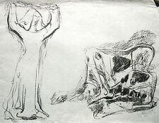 Eduard Hopf 1901-1973 Hamburg / Lithographie / Totentanz 1945 / Griffelkunst