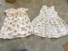Next Baby Girls Dresses 9-12 Months Bunny And Floral