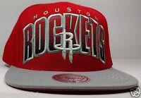 Houston Rockets Mitchell & Ness XL Double Bonus Red 2 Tone Snapback Hat Cap NBA