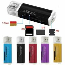 All in One all in 1B Memory Card Reader Adapter for Micro MMC HC TF M2-.