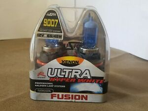 Fusion HB5 9007 Halogen 65/45w Xenon Headlight Hyper White 5000K Light Bulb Set