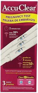 Accu-Clear Pregnancy Test, 3 Ct (9 Pack)
