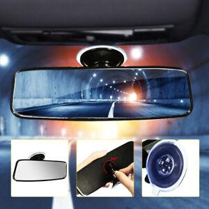 Interior Rear View Car Windscreen Mirror StickOn Wide Angle 200mm Universal Auto