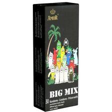 Frei Haus: Amor Big Mix 30 bunt gemischte Kondome, stimulierend, bunt, mit Aroma
