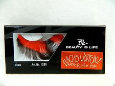 New Lady Gaga Workshop New York Women's Red And Brown Long False Fake Eyelashes