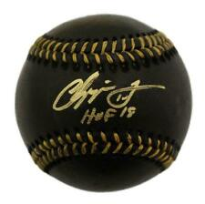 Chipper Jones Autographed/Signed Atlanta Braves Black OML Baseball HOF BAS 21617
