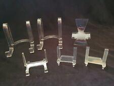 Six Acrylic Display Easels, Three 4-inch and Three 2-inch
