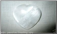 Jet Selenite Puffy Heart Stone Spirit Guide Stone White Crystal Therapy Healing