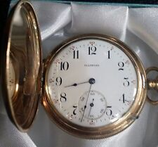 Antique Illinois Watch Company Hunters Case Gold Filled Gent's Pocket Watch