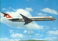 Swissair Douglas DC 9 81 Printed Continental Modern postcard