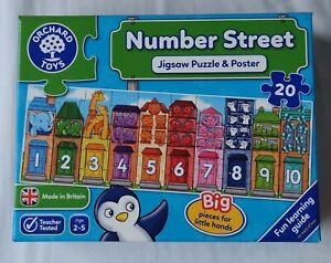 Orchard Toys Number Street - 20pc Jigsaw Puzzle