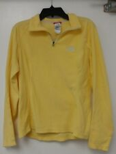 The North Face Yellow Womens Quarter Zip Fleece Sweater Pullover Pullon Extra Sm