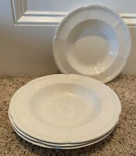 """Johnson Brothers OLD ENGLISH WHITE 9 1/4"""" Rim Soup Bowls Set(s) of 4"""