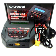 GT Hobbies C6D RC Battery AC Balance Charger Discharger 6A 60w Lipo 2-4s AUST