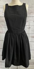 American Apparel Women's Sundress Black Open V Back Button Sleeveless Size Small