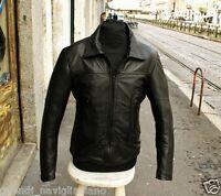 Giubbotto giacca pelle morbida uomo modello fonzie old style anni 70 Guendj
