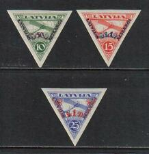 Latvia 1931 Airplane airmal semipostals imperf--Attractive Topical (CB3a-5a) MNH