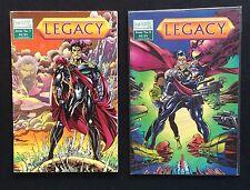 LEGACY #1-2. MAJESTIC COMICS.  Glow In The Dark Modern Age Comic. Free Shipping