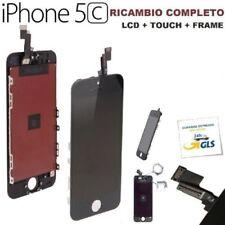TOUCH SCREEN + LCD DISPLAY RETINA + FRAME PER APPLE IPHONE 5C VETRO modello NERO