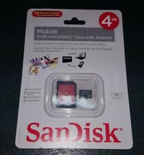 SanDisk 4GB MicroSD Micro SD Memory Card - with adapter New Sealed