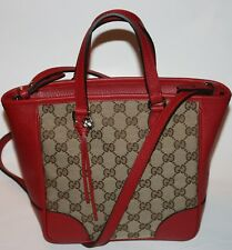 NWT GUCCI GUCCISSIMA GG TOTE HANDBAG CANVAS/LEATHER SHOULDER BAG