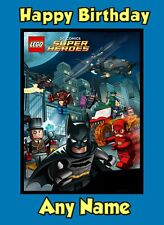 Personalised Birthday Card - Lego Batman - Childrens Boys Son Brother Grandson