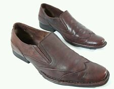 Borelli mens brown leather wingtip casual shoes UK Eu 40