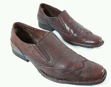 Borelli mens brown leather wingtip casual shoes UK Eu 40