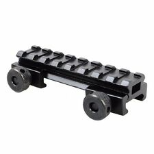 "1/2(0.5)"" AR Flat-Top 8 Slots Riser Mount Base with 20mm Picatinny/Weaver Rail"