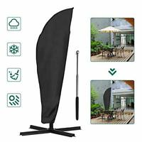 COSANSYS Parasol Cover- New Umbrella Cover with Rod,Protective Parasol Cover