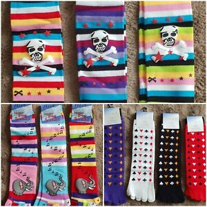 Flirt colourful Toe Socks with Clown / pirate / cards / elephants theme one size