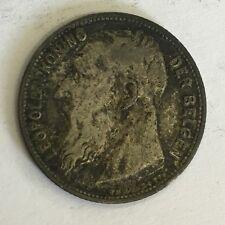 Belgium 1904 Silver 1 Frank Coin