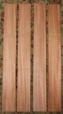 "African mahogany bass neck blanks. Select grade, quarter sawn  36 X 4 X 15/16"""