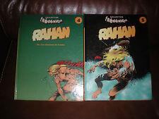 RAHAN - LOT DES TOMES 4 ET 5 EDITIONS CARTONNEES 1996 COLLECTION FREDERIQUE