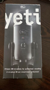 Blue Yeti Blackout USB Microphone for Professional Recording - FACTORY SEALED!