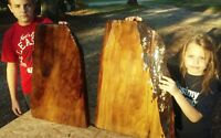 Old Growth Ancient Sinker Cypress Exotic Burl Wood End Tables Top Amercan Made