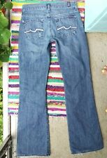 """7 for all Mankind Bootcut Jeans size 25 x 29.5"""", Patch Squiggle Pocket Detail"""