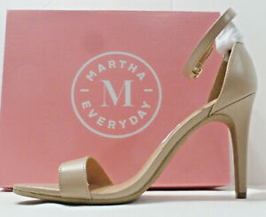 "MARTHA EVERYDAY ""Highclere"" Ankle Strap High Heel Shoe 184466, Nude, Size 9, NIB"