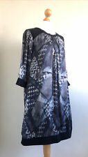 GIULIA (Made in Italy) Fabulous Silk Blend Gorgeous Print Lagenlook Tunic M NWOT