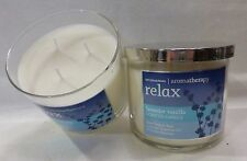2 Relax Lavender Vanilla Scented Candle Bath & Body Works 14.5 Oz