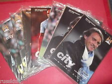 2011/12 - MAN CITY HOME PROGRAMMES CHOOSE FROM